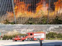 Incendio nei pressi dell'area di servizio di Sala Consilina. Fiamme a ridosso dei serbatoi di benzina