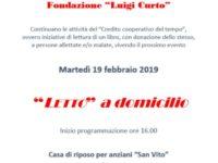 """Sant'Arsenio: il 19 febbraio letture per gli anziani con l'evento """"Letto a domicilio"""""""