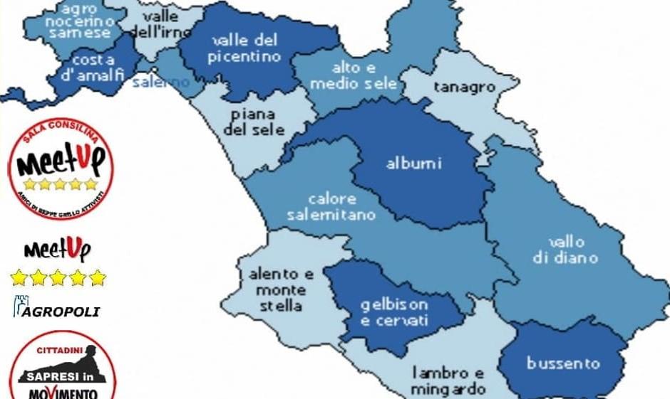 Cilento Cartina Geografica.Autonomia Del Vallo Di Diano E Del Cilento I Meetup 5 Stelle Perche Creare La Sesta Provincia Campana Ondanews It
