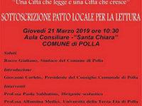 Polla: domani la sottoscrizione ufficiale del Patto Locale per la Lettura