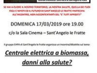 """Domani a Sant'Angelo le Fratte l'incontro """"Centrale elettrica a biomassa, danni alla salute?"""""""