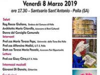 """L'8 marzo a Polla l'incontro dal titolo """"Poesia e Luoghi d'Amore"""" in occasione della Festa della Donna"""