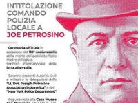 Padula: domani l'intitolazione del Comando di Polizia Locale a Joe Petrosino a 110 anni dalla morte