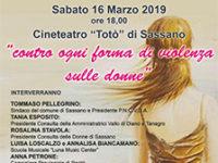 """Sassano: il 16 marzo l'incontro """"A Silvia – contro ogni forma di violenza sulle donne"""""""