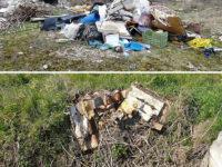 Teggiano: cumuli di rifiuti abbandonati a Pantano e in località San Raffaele
