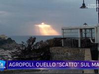 """Diventa virale lo scatto del """"Cristo"""" sul mare. Le telecamere de """"La Vita in Diretta"""" ad Agropoli"""
