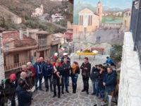 Inaugurata a Sassano la nuova terrazza con murales su Corso Umberto I