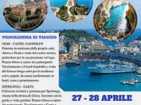 Il 27 e 28 aprile a Nemi, Castel Gandolfo, Sperlonga e Gaeta con l'Agenzia Viaggi Speranza