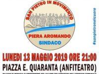 """Elezioni Amministrative. Domani presentazione della lista """"San Pietro in Movimento"""" di Piera Aromando"""