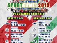 """San Rufo: il 25 e 26 maggio """"Sport Games 2019"""" alla Meta Sport presso il Centro Sportivo Meridionale"""