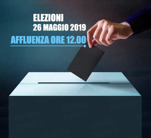 Elezioni 2019.L'affluenza alle ore 12:00 nel Vallo di Diano, Cilento, Golfo di Policastro, Sele, Tanagro