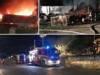 Capannone agricolo in fiamme ad Atena Lucana Scalo. Danni per circa 20mila euro