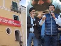 Striscione contro Salvini a Salerno. La Procura apre un'inchiesta per turbativa di propaganda elettorale
