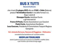 """Polla: il 14 giugno presentazione del progetto delle Autolinee Curcio """"BUS X TUTTI Muoversi facilmente"""""""