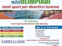 Tutto pronto alla Metasport di San Rufo per la VII edizione delle Mini Olimpiadi