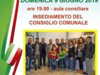 Caggiano: il 9 giugno la cerimonia di insediamento del nuovo Consiglio Comunale