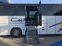 Polla: le Autolinee Curcio inaugurano due autobus con pedana per le persone con difficoltà di movimento