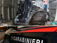 Ritrovata a Santa Cecilia di Eboli un'auto a pezzi rubata nei mesi scorsi a Vietri di Potenza