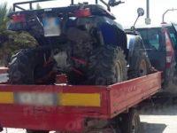 Trasporta un quad su un carrello irregolare lungo l'A2. Scattano sequestri e sanzioni a Sala Consilina