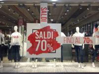 Saldi fino al 70% presso lo store Piazza Italia al Centro Commerciale Diano di Atena Lucana