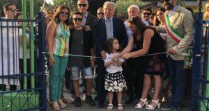 """Inaugurato a Fisciano il parco giochi """"Gaetana Pierri"""" con il sostegno della Fondazione Monte Pruno"""