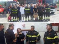 Il Comandante Provinciale dei Vigili del Fuoco Rosa D'Eliseo visita il Distaccamento di Sala Consilina
