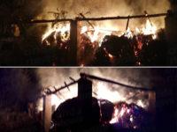 Fienile in fiamme nella notte a Padula. Intervengono i Vigili del Fuoco