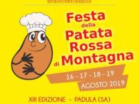 """Padula: dal 16 al 19 agosto torna la 13^ edizione della """"Festa della patata rossa di montagna"""""""