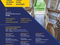 Padula al chiaro di luna. Il 24 e il 25 agosto visite e spettacoli serali alla Certosa di San Lorenzo