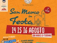 """Teggiano: attesa per la 7^ edizione di """"San Marco in Festa"""" dal 14 al 16 agosto"""