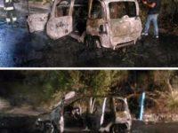 Rientrano dal mare ma l'auto va a fuoco allo svincolo dell'A2 a Lagonegro. Salva una famiglia di Napoli