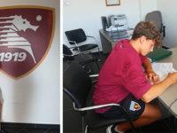 Marco Fasano di Sala Consilina tra i giocatori dell'Under 15 della Salernitana