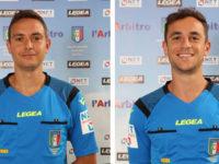 Ivan e Manuel Robilotta della Sezione AIA di Sala Consilina presenti a Sportilia per il raduno CAN B