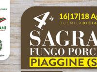 """Piaggine: dal 16 al 18 agosto la """"Sagra del Fungo Porcino"""" dell'associazione """"Saperi & Sapori Cilentani"""""""