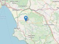Scossa di terremoto con epicentro a Roccadaspide. Magnitudo 2.4