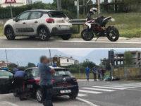 Scontro tra auto e moto ad Atena Lucana. Ferito centauro di Sala Consilina