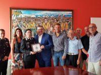 Agropoli: il neo Comandante dei Carabinieri Fabiola Garello fa visita al sindaco Coppola