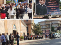 Lacrime e palloncini bianchi a Montesano per l'ultimo saluto al piccolo Luigi Marino