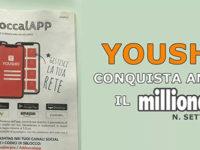 L'innovativa app Yousho ideata da Pio Cancro di Teggiano sulle pagine di Millionaire