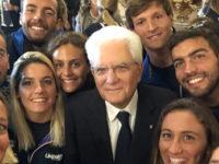 Il Presidente della Repubblica Mattarella incontra i campioni di nuoto.Tra loro anche Domenico Acerenza