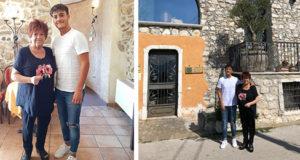 Orietta Berti ospite dell'Hotel Villa Torre Antica ad Atena Lucana durante una tappa nel Vallo di Diano