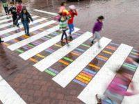 """Ad Agropoli le strisce pedonali si fanno """"creative"""", più visibili a pedoni ed automobilisti"""
