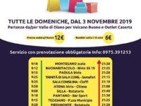 Dal 3 novembre, tutte le domeniche, Autolinee Curcio ti porta ai centri commerciali di Nola e Caserta