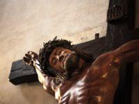 """Da una pianta di ulivo nasce il """"Cristo di Vietri di Potenza"""", installato nella chiesa dell'Annunziata"""