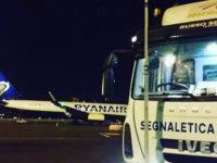 Infravie srl di Sant'Arsenio all'aeroporto di Ciampino per il rifacimento della segnaletica orizzontale