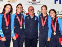 Oro in Egitto per la Nazionale Italiana di fioretto. Nel quartetto anche Francesca Palumbo di Potenza