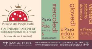 Al Magic Hotel di Atena Lucana tante gustose novità in pizzeria in vista della stagione invernale
