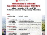 Sicignano degli Alburni: il 9 novembre un seminario sulla politica delle donne per il territorio