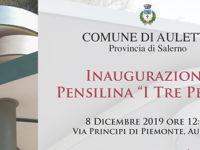 """Auletta: domani inaugurazione della pensilina """"I tre petali"""" in via Principi di Piemonte"""