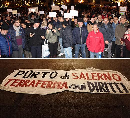 """""""Salerno non Si Lega"""". Migliaia di Sardine scendono in Piazza Amendola per protestare contro Salvini"""